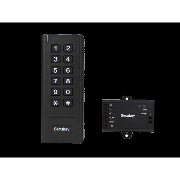 Безжична самостоятелна клавиатура за една врата - включва безжична клавиатура и контролер в пластмасова кутия.