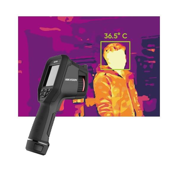 Портативна термографска камера Hikvision за измерване на температура на лица с точност ±0.5°С