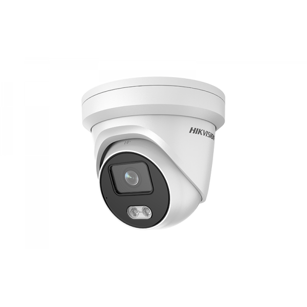 ColorVu IP куполна камера HIKVISION - 4 мегапиксела, Обектив: фиксиран 4 mm, с аналитични функции и вградено бяло LED осветление