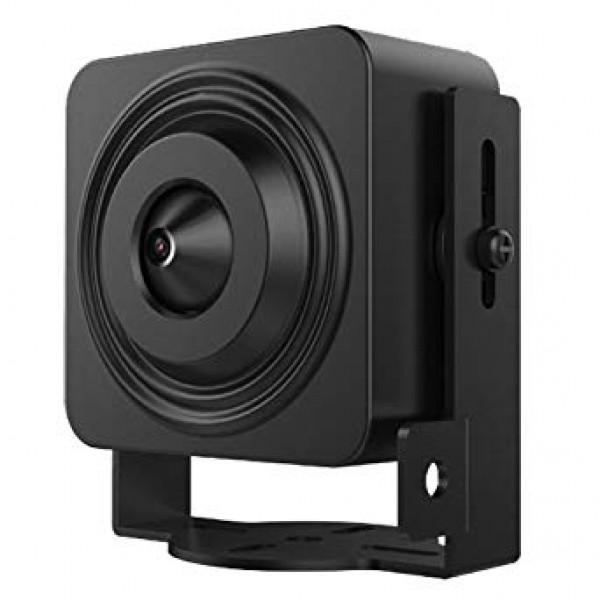 HIKVISION Мини IP камера; резолюция 1.0 Мегапиксел (1280x720@25 кад/сек); 1/4'' Progressive Scan CMOS сензор; вграден pinhole обектив 3.2 мм (хоризонтален ъгъл 65°); 3D DNR шумов филтър; WDR; 0.028Lux; H.264/MJPEG; 12Vdc/3W; размери: 35х35х15 mm