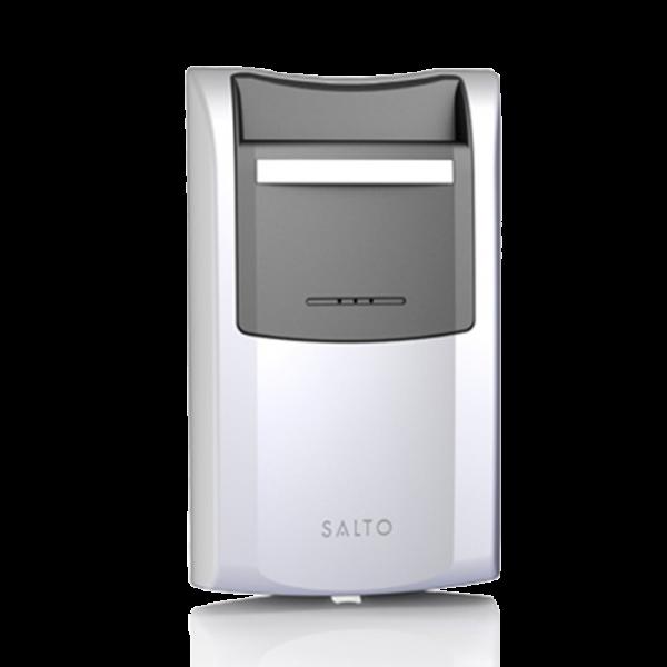 SALTO интелигентен енергоспестител работи само с Mifare карти от производителя и то такива с достъп до конкретната стая