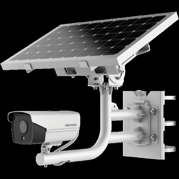 HIKVISION  2.0 Мегапиксела Автономна 4G IP камера, вградена литиева батерия 20Ah/12.6V; соларен фотоволтаичен панел 40WEXIR технология с обхват до 30м;