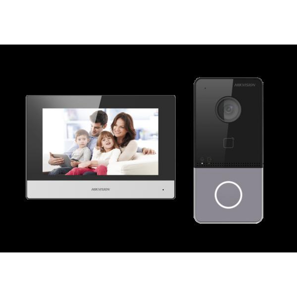 Комплект Hikvision  IP видеодомофон. Еднопостов комплект