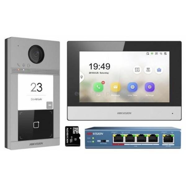 НОВО!!! Комплект Hikvision  IP видеодомофон. Еднопостов комплект