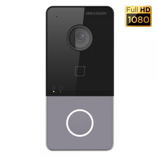 Hikvision Еднопостов лицев панел, вградена 2MP HD WDR камера с ъгъл на видимост: хоризонтала 129. НОВО!!!