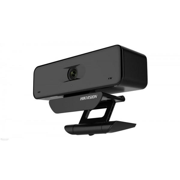 Hikvision 4K (3840x2160) уеб камера / Висококачествена резолюция / Ясно и гладко видео / Широкоъгълен без изкривяване / Вграден микрофон с ясен звук