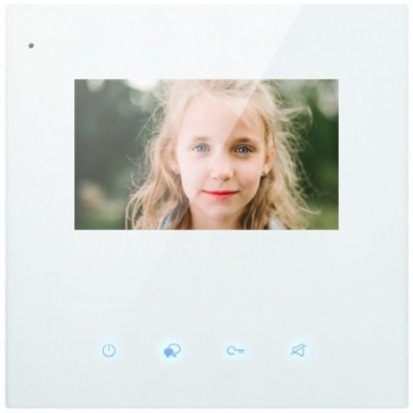 """Висококачествен цветен 7"""" LCD монитор """"touch screen"""", елегантен дизайн със сензорни бутони  V-Tek"""