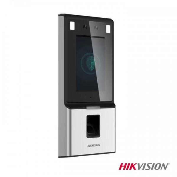 Hikvision Самостоятелен биометричен видео терминал за контрол на достъпа с Deep learning алгоритъм, широкоъгълна камера за разпознаване на лица, поддръжка на Mifare карти, инфрачервена камера за детекция на топлина от жив човек