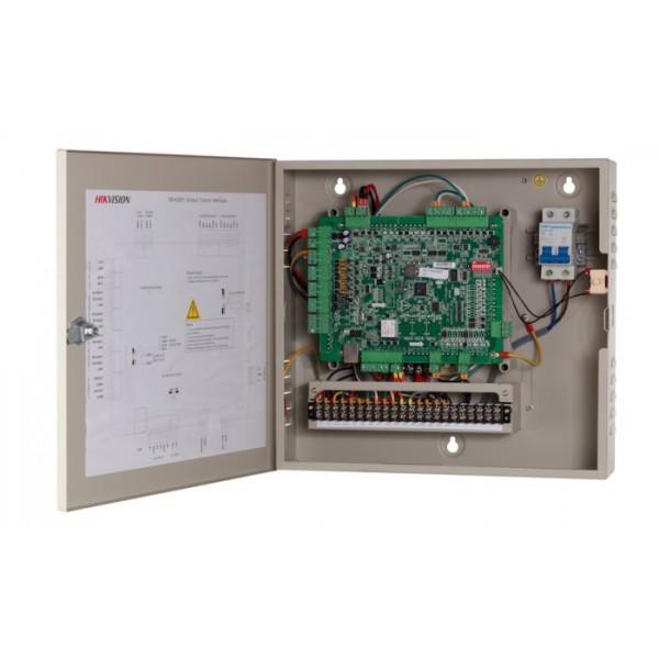 Hikvision Контролер за контрол на достъп на 1 врата двустранно с поддръжка на 2 Wiegand (w26/w34) / 2 RS-485 четеца
