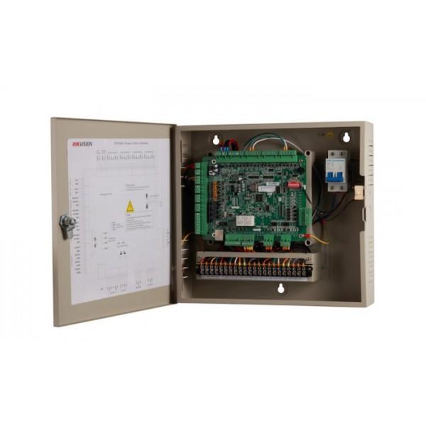 Hikvision Контролер за контрол на достъп на 2 врати двустранно с поддръжка на 4 Wiegand (w26/w34) / 4 RS-485 четеца