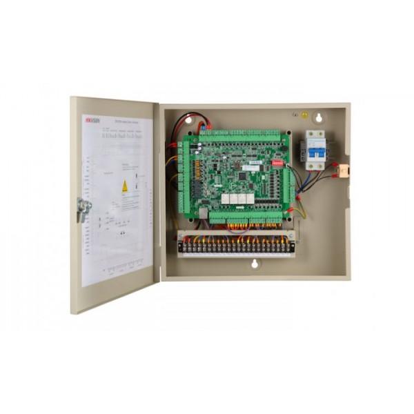 Hikvision Контролер за контрол на достъп на 4 врати двустранно с поддръжка на 4 Wiegand (w26/w34) / 8 RS-485 четеца