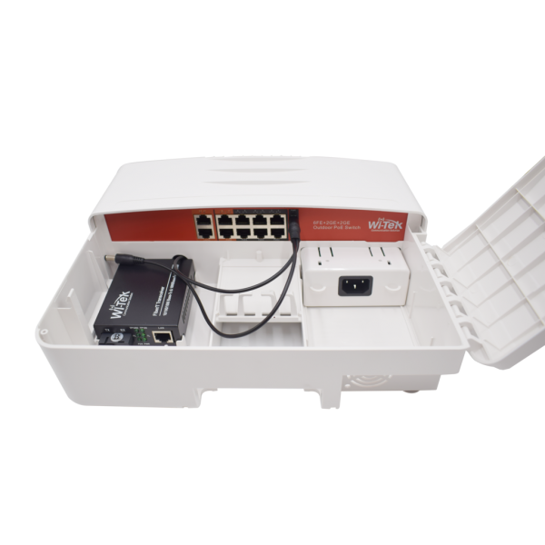 НОВО!!! Външен 10-портов PoE мрежов комутатор в кутия; 6 х 10/100Mbps Fast Ethernet порта + 2 x 10/100/1000Mbps Gigabit Ethernet порта + 2 x 10/100/1000Mbps
