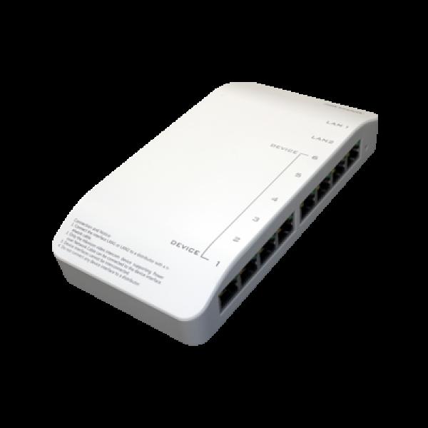 Мрежов захранващ PoE суич,  8 x 100Mbps порта HIKVISION