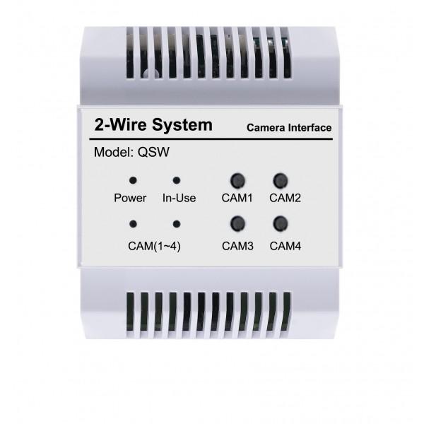 Квадратиращо устройство за обединяване и едновременно визуализиране на 4 аналогови видео камери V-Tek