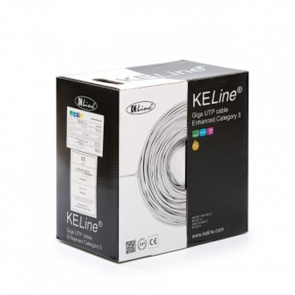 U/UTP кабел Cat. 5Е Solid Euroclass Eca, PVC, 305м