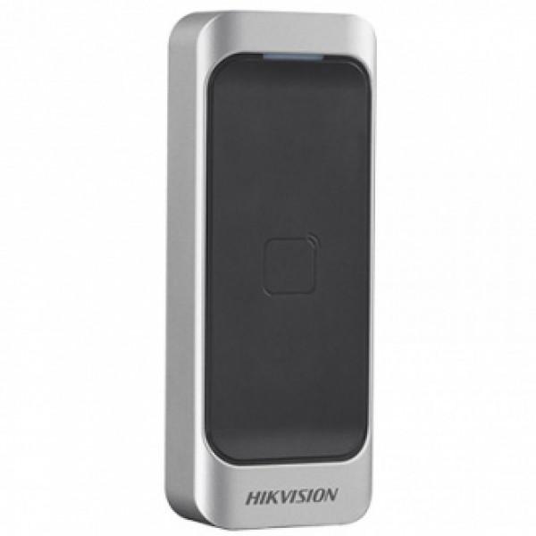 Hikvision Безконтактен четец за карти EM 125kHz. Поддържа Wiegand (w26/w34) и RS-485 интерфейси