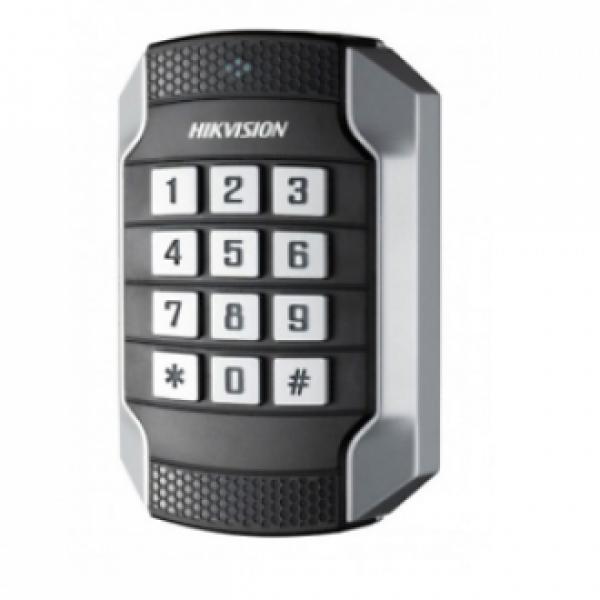 Hikvision Безконтакти четци Mifare 13.56MHz / Вандало и влагоустойчив безконтактен четец за Mifare карти с клавиатура