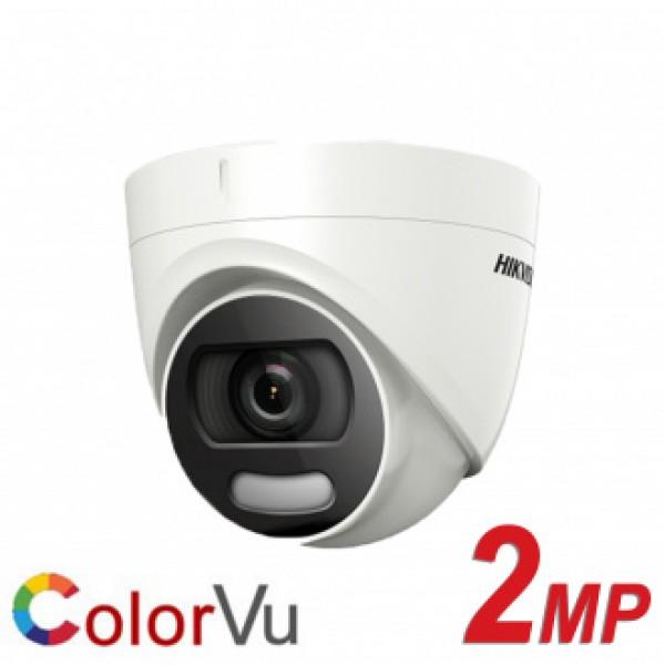 Hikvision куполна камера за видеонаблюдение с colorvu технология за цветна картина при пълна тъмнина NEW