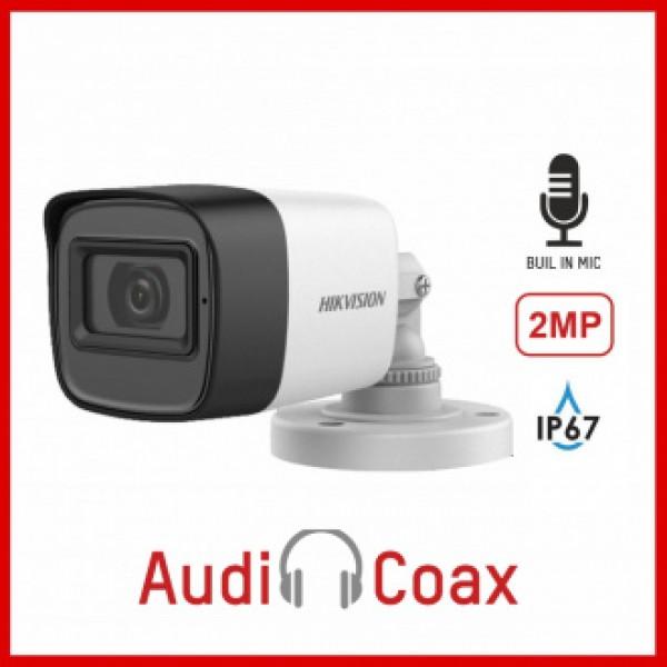 НОВО!!! Влагоустойчива 2 Mpx камера за видеонаблюдение (4 in 1) с вграден микрофон