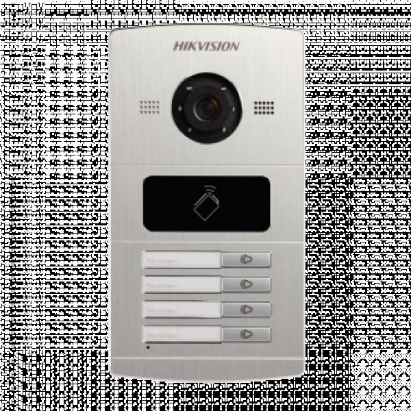 Лицев панел за IP видеодомофонни системи HIKVISION за 4 поста NEW
