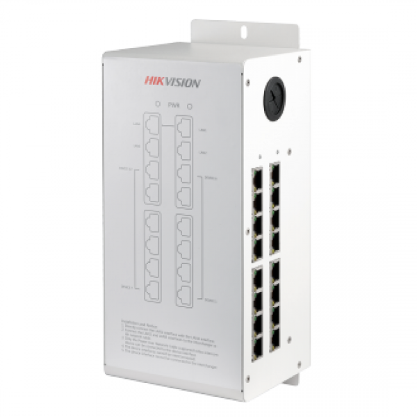 Мрежов захранващ модул-дистрибутор за IP видеодомофонни системи HIKVISION NEW