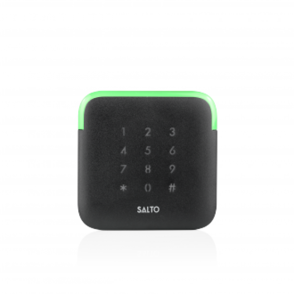 SALTO безконтактен четец със стилен дизайн, LED индикация и капацитивна клавиатура