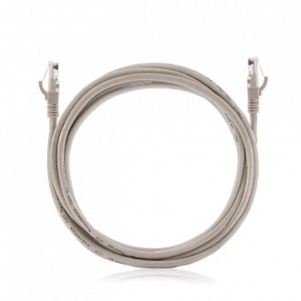 Пач корда UTP Cat. 5E, PVC, 0,5м, сив