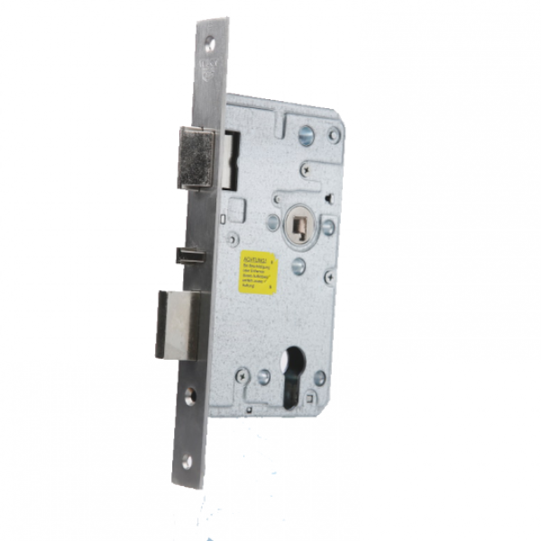 XS4 Euro механична брава оборудвана с допълнително долно резе за заключване.