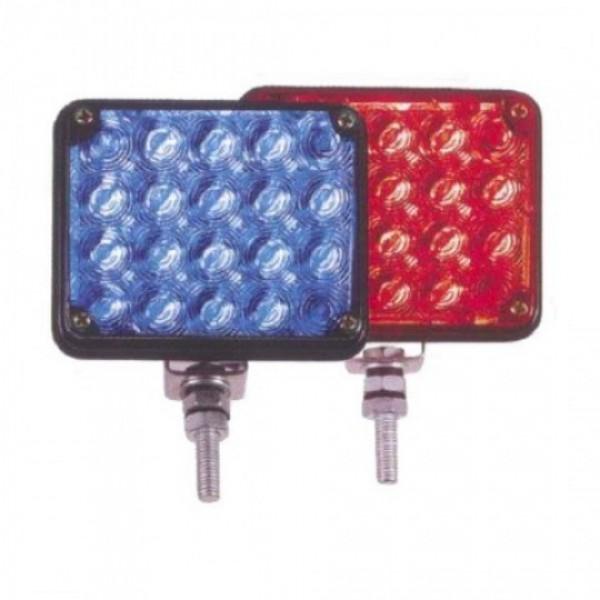 Миниатюрна квадратна строб/LED лампа със стойка за закрепване и контролер за управление