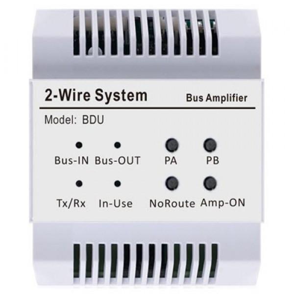 Усилвател на двупроводната DT система. Разширява капацитета на системата и позволява по-дълго кабелно трасе V-Tek