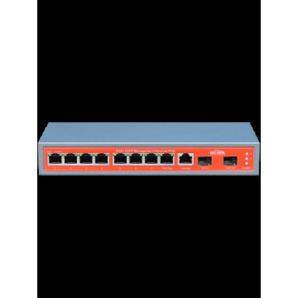 WI-PMS310GF 10-портов PoE управляем мрежов комутатор